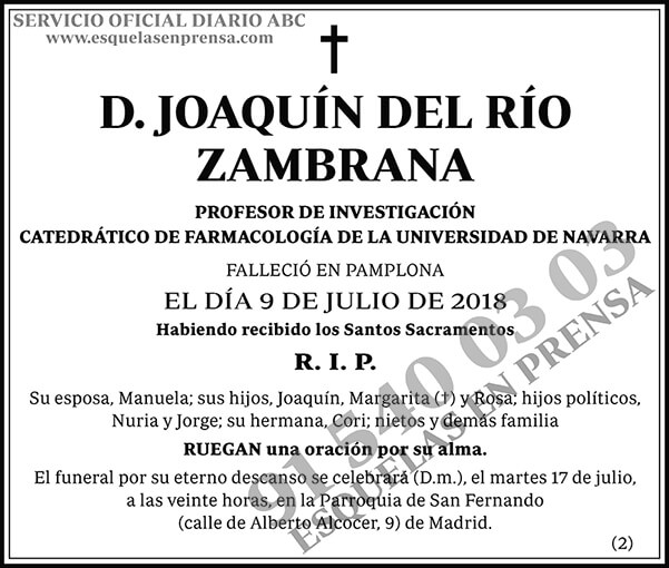 Joaquín del Río Zambrana